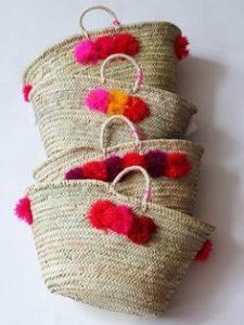 cestos de mimbre artesanales